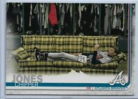 2019 Topps Series 2 Baseball Short Print Variation Chipper Jones #587 Braves