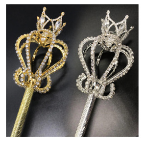 Royal King Queen Ceremonial Scepter Wand Fairy Princess Cosplay Handheld Props