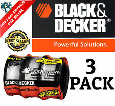 Weed Eater Replacement Line String Trimmer Spool 3 Pack Black and Decker Auto