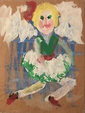 Sybil Gibson Dancing Lady Original Folk Painting Outsider Art