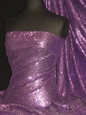 Showtime Fabric All Over Stitched 3mm Sequins - Lilac SEQ53 LIL
