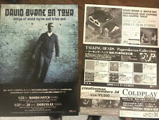 DAVID BYRNE tour live Japan 2008 Songs of Brian Eno flyer MINT TALKING HEADS