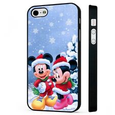 Disney Mickey Mouse Minnie Mouse Christmas BLACK PHONE CASE COVER fits iPHONE