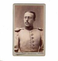 CDV Foto Soldat mit Epauletten - München 1880er