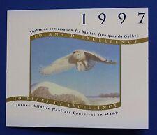 Canada (QU10As) 1997 Quebec Wildlife Habitat Conservation Stamp (MNH) WWF-SBA