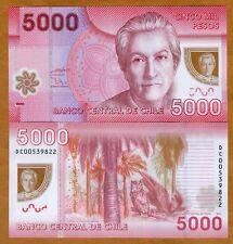 Chile, 5000 (5,000) Pesos, 2011, Polymer, Pick 163 (163b), UNC