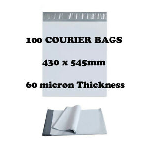 100 Poly Mailer 430x545mm Premium Courier Bags Self Sealing Mailing Satchel