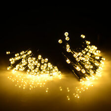 Warm White Waterproof 100 LED Strip String Fairy Lights Solar Outdoor Party