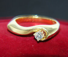 Solitär BRILLANT Ring Diamant 0,15 ct / 585 GOLD Goldring Verlobungsring Ehering