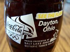 OLYMPIC  TORCH  RELAY,  Dayton,  Ohio  2002,  1 - 8  Oz Coke Bottle