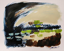 Original Abstract EXPRESSIONISM  Painting JMW art John Williams Scene