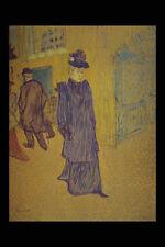 401005 Jane Avril sortant du Moulin Rouge h de TOULOUSE LAUTREC A4 papier photo