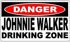 Danger Sign Johnnie Walker Drinking Zone- Bar Gift Pool Room Man Cave 0701