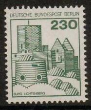 La Germania SGB524b 1977 CASTELLI TEDESCHI 230pf verde Gomma integra, non linguellato