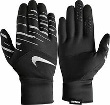 NIKE FLASH RUN GLOVES Tech Finger BLACK SILVER Reflective 83434 Mens Multi Size