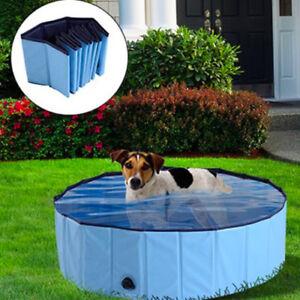 80*20cm Pet Swimming Pool Bath Cat Dog Indoor Outdoor Foldable Large Bathtub