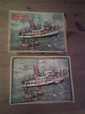 Vintage 1960s Wooden Wiltoys HighSpotJigsaw Puzzle, -
