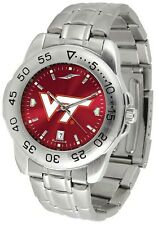 Virginia Tech Hokies Licensed Men Sport Steel AnoChrome Watch