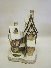 "David Winter Cottages ""Fred's Home"" Christmas Special 1991 Coa Mib"
