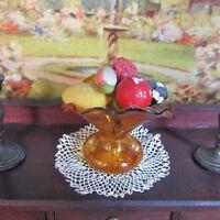 Antique Victorian Dollhouse HAND BLOWN GLASS FRUIT BOWL DISH Germany Miniature