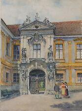 Hans Ranzoni der Ältere, Dürnstein, Wachau, großes Aquarell