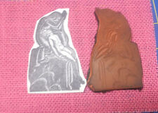 Rubber Poet Praying image nude man rubber stamp unusual spiritual religious