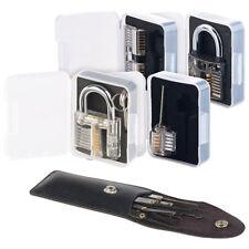AGT Lockpicking-Set mit 17-teiliger Dietrich-Tasche und 4 Übungsschlössern