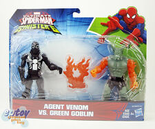 Marvel Ultimate Spider-Man Sinister 6 Agent Venom VS Green Goblin Figures
