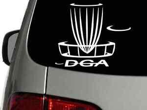 DGA DISC GOLF BASKET 6 x 5 Vinyl Decal Car Sticker Wall Truck