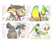 Australia-Birds Endangered mnh set (1794-7)