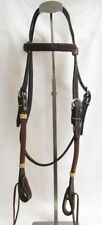 Western Horse Headstall - Dark Brown/Black - Braided Weave - New
