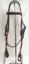 Western Horse Headstall - Dark Brown/Black - Braided Weave - New
