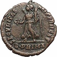 VALENS 367AD R.PRIMA Rare Rome Mint Authentic Ancient Roman Coin VICTORY i55677