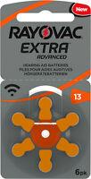 60x Rayovac Extra Advanced Hörgerätebatterien 13 13AU-6XEMF (10x6er Blister)