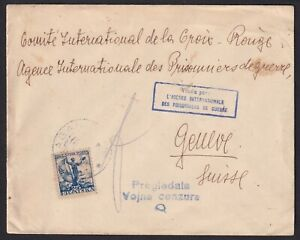 Croatia, SHS, 1919, letter Draganić to Geneve (Red Cross POW), military censor