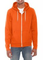 ORIGINAL American Apparel Flex Fleece Zip Hoodie Tang Bright Orange F497 M NEW