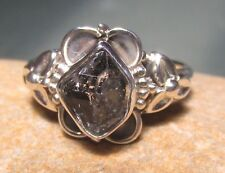 Sterling silver everyday Herkimer diamond quartz stone ring UK M¾-N/US 6.75
