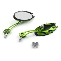 Universal Motorcycle Rearview Mirrors Rear View Mirror 8mm 10mm Green/A5