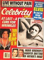 Celebrity Plus Magazine August 1988 Elvis Oprah Ingrid Isabella Bergman