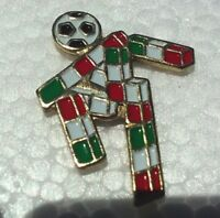 Mexico Italy Soccer Player pin badge Flag colors