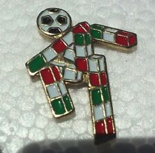 Mexico Italy Soccer Player lapel pin pre-owned Mexican Italian Flag