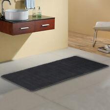 "24"" x 60"" Non-slip Back Rug Soft Bathroom Carpet Memory Foam Bath Mat Black NEW"