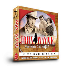 JOHN WAYNE WESTERNS COLLECTION 5 FILM DVD GIFT TIN SAGE BUSH TRAIL & MORE