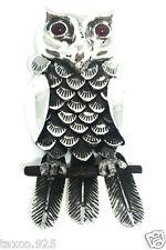 Ignacio Gomez Taxco Mexican 950 Silver Owl Pendant Pin Mexico