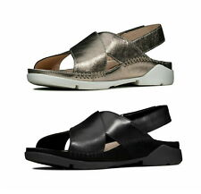 LADIES CLARKS 2020 TRIGENIC TRI ALEXIA FLAT SLING BACK LEATHER SANDALS