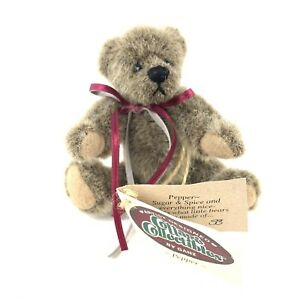 Vtg Cottage Collectibles Pepper Mini Jointed Teddy Bear Ganz Artist Sue Coe 1998