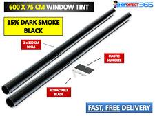 Negro de humo oscuro 15% Coche Tintado Lámina Rollo 6 M x 75 cm 20-36X2 Kit de teñido