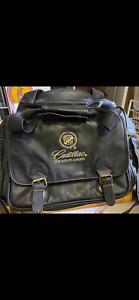 estate cadillac the luxury leaders duffle/tote black leather bag