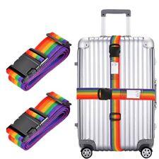 2cinghie per valigia, regolabile, lunga 198,1cm, cinghie di sicurezza (b6H)