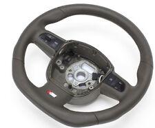 S-LINE Flattened Steering Wheel Multifunction Leather Dunkelbeigen Audi A5